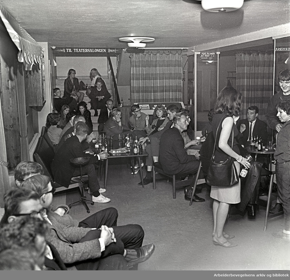 """""""Club 7"""" åpnet i Edderkoppens lokaler,.17. juli 1965"""