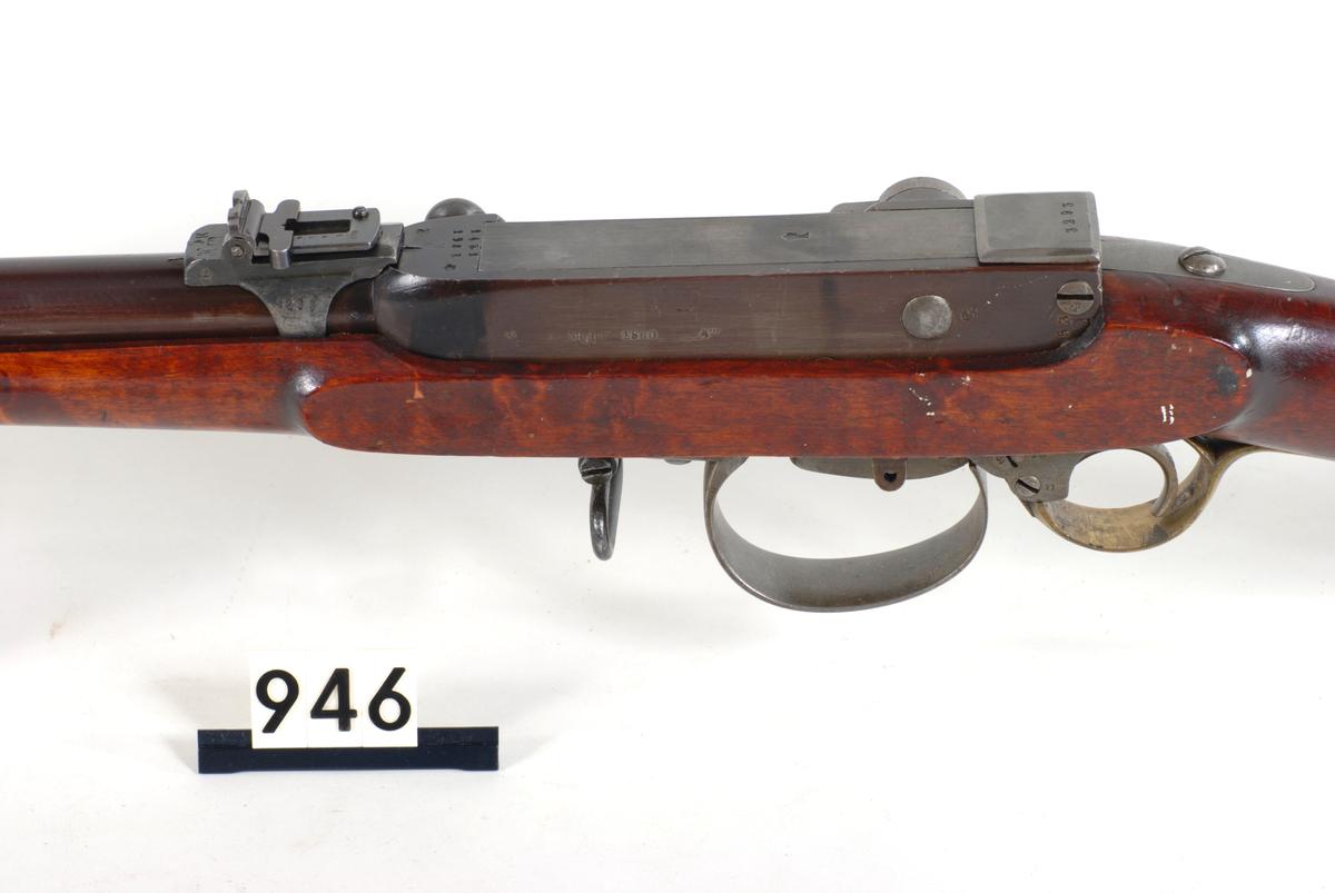 Dette våpenet er avtegnet av Rustmester Ole Nielsen Lenning i perioden 1950-1970