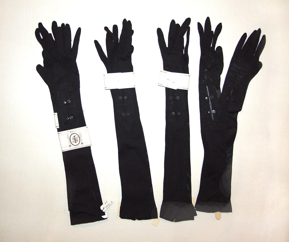 5 Stk.Svarte hansker til finbruk. De kommer fra butikkloftet Østmo Elverum.