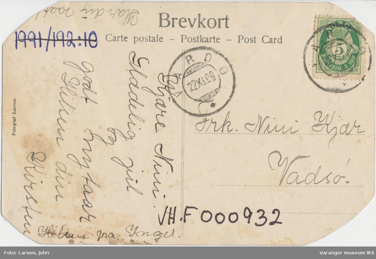 Postkort, Vardøhus Festning, ca. 1900