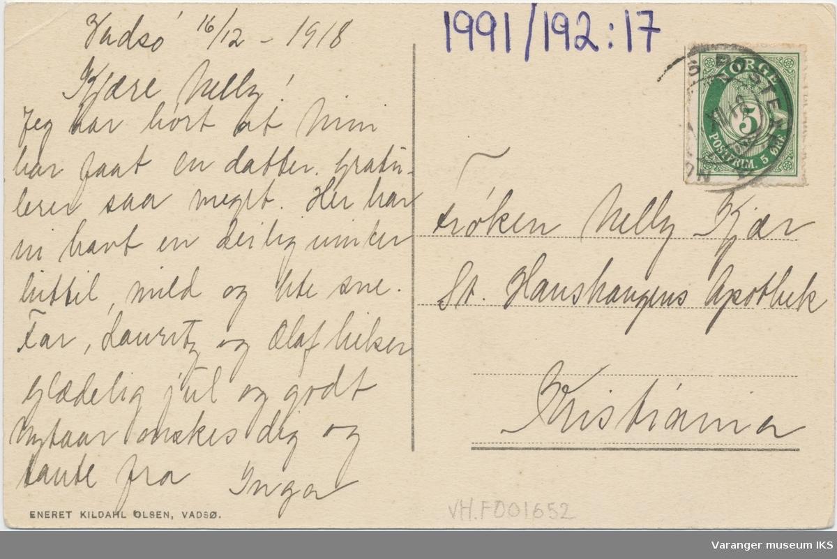 Postkort, Vadsø Sykehus
