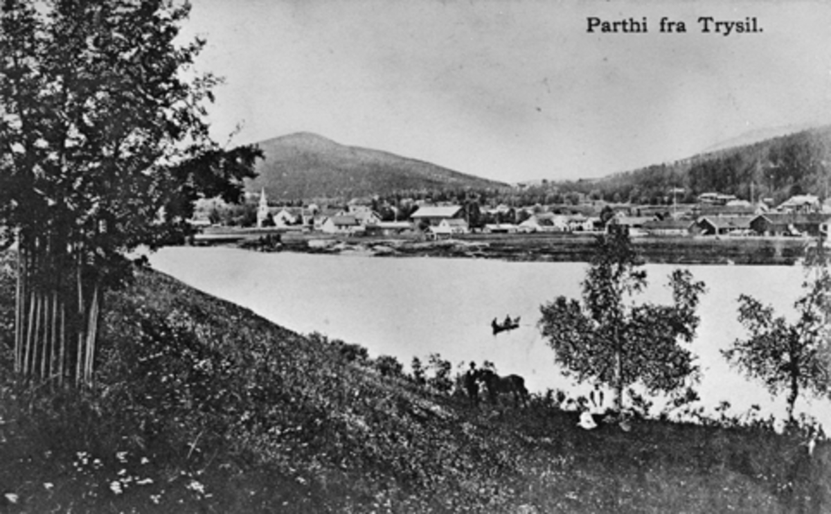 POSTKORT, TRYSIL, TRYSILELVA, STEMPLET 1917