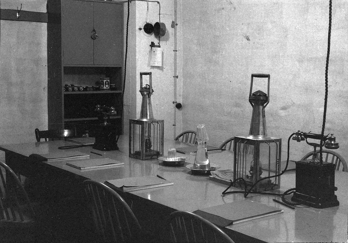 "Sivile luftvern - ""Flyalarm""-rommet i Telegrafbygningen"
