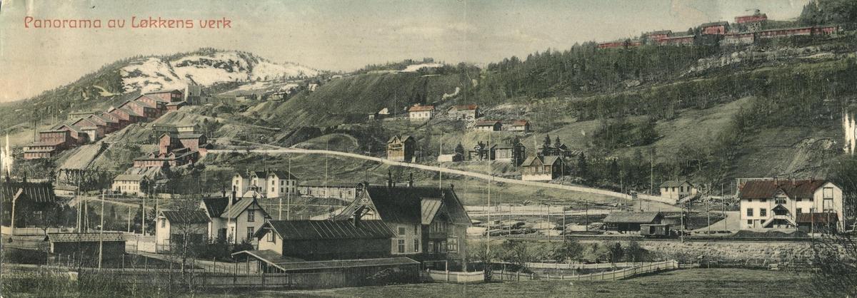 Panoramabilde av Løkken Verk. Tatt mot sørvest.