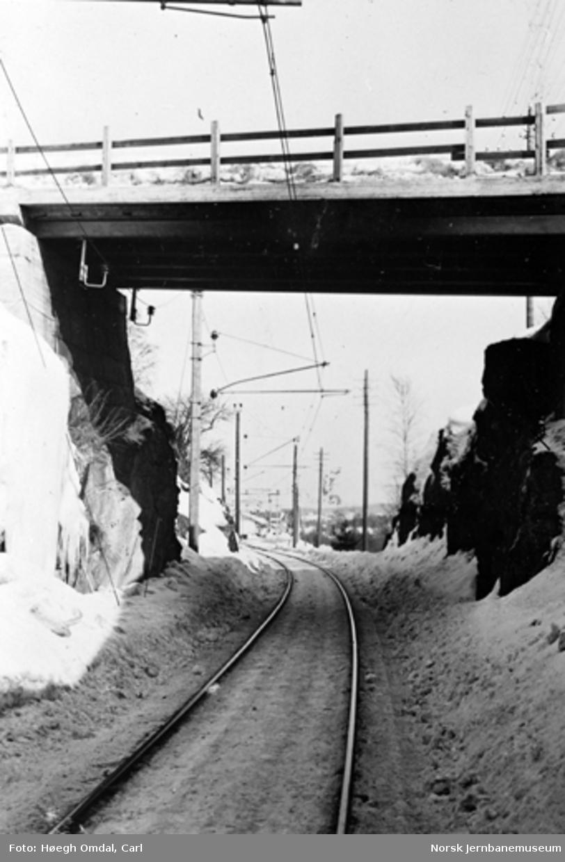 Innkjøringen mot Fetsund stasjon fra Oslo