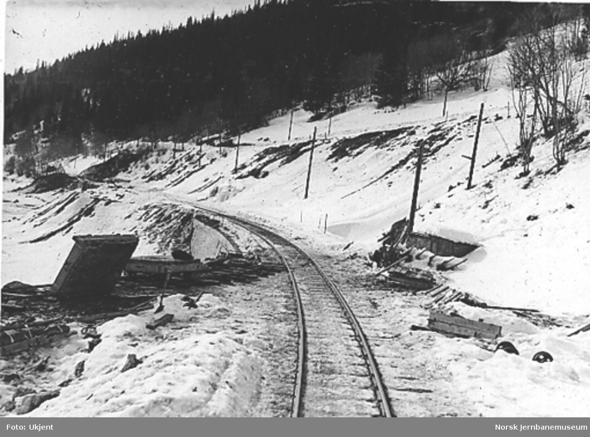 Utbedret linje, Kirkvollbruddet ved Singsås, sett nordover