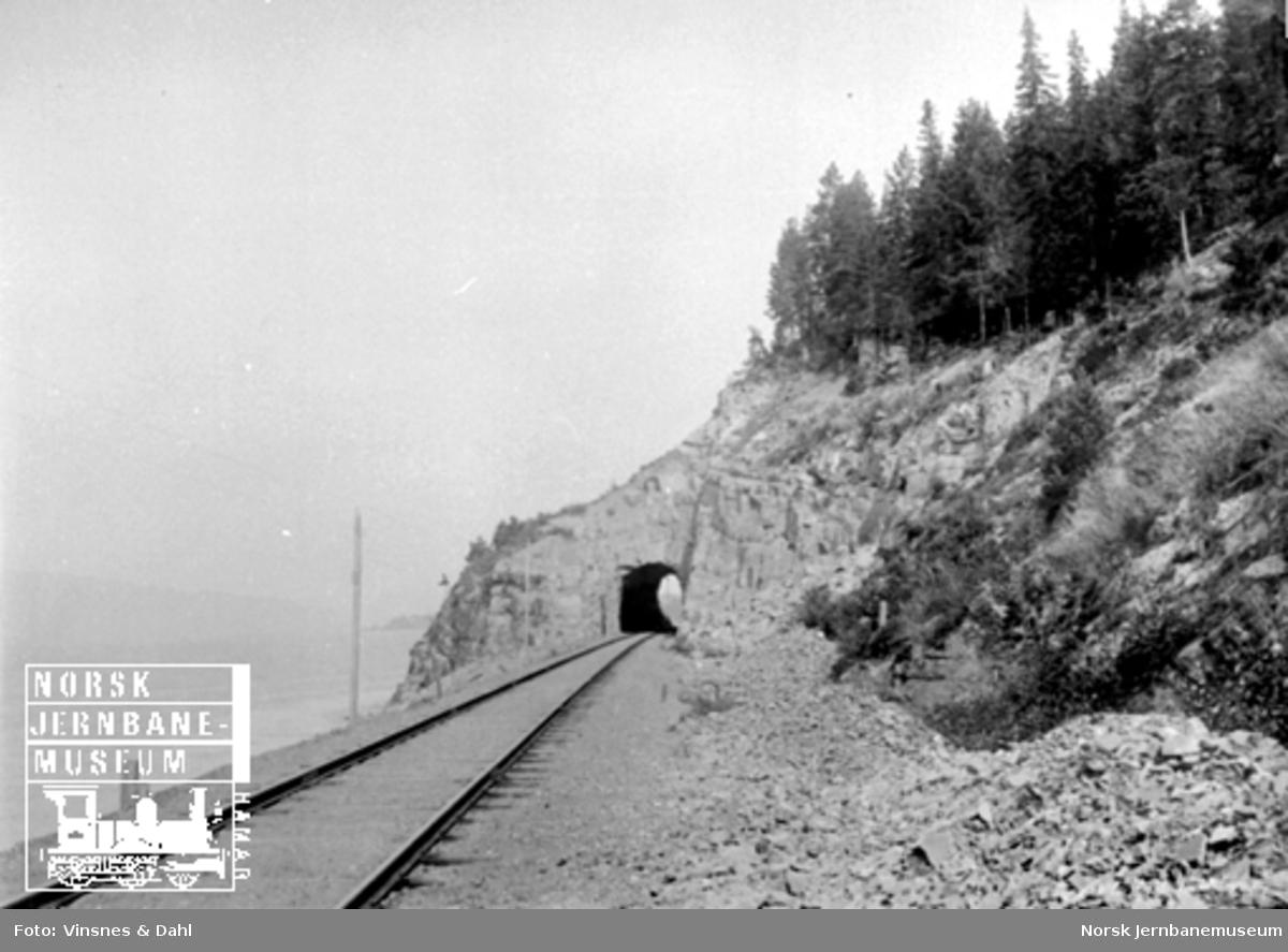 Jernbanelinjen mot Furuberget tunnel