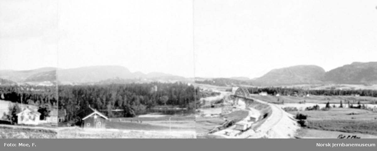 Bandak, utsikt fra toppen av Ajerskjæringen