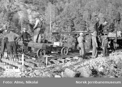 Skinnelegging på Sørlandsbanen
