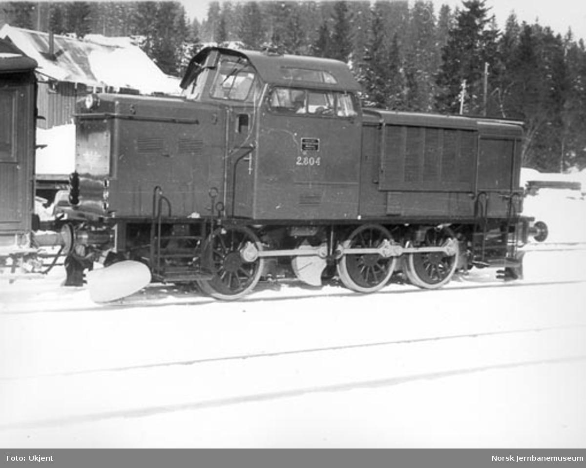 Diesel skiftelokomotiv type Di 2 nr. 804