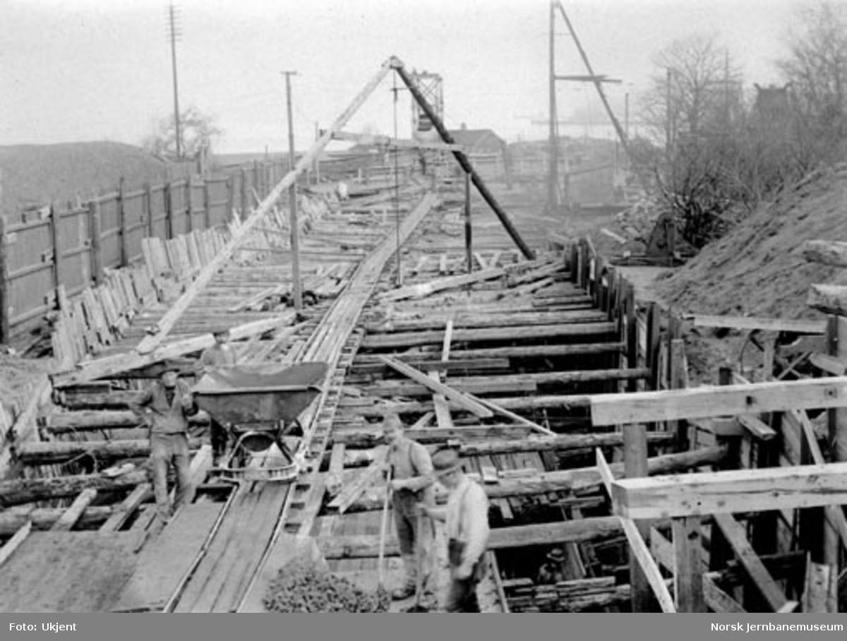 Anleggsarbeider ved Nidareid tunnel (?)
