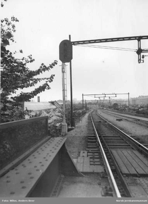 Innkjørsignal til Oslo Ø fra Hovedbanen