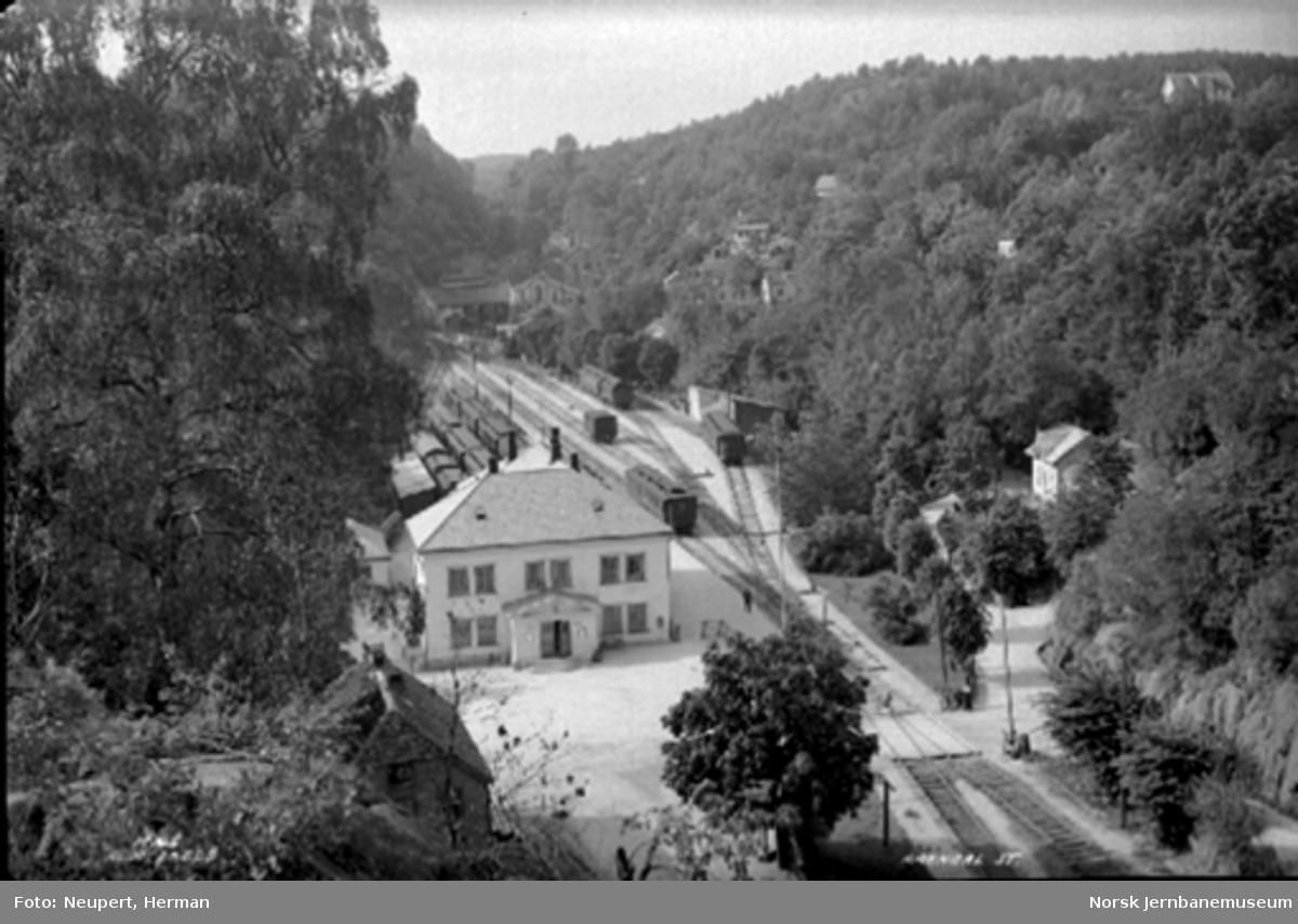 Oversiktsbilde over Arendal stasjon
