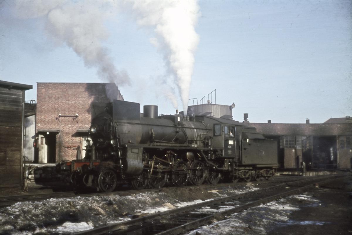 Damplok ved lokomotivstallen på Hamar