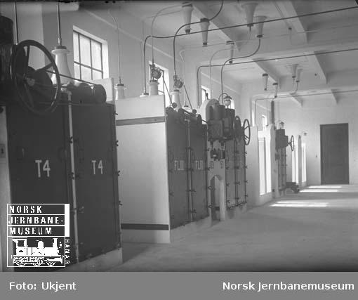 Hakavik kraftstasjon, interiør