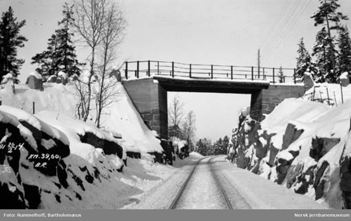 Overgangsbru på Drammenbanen, km 39,60