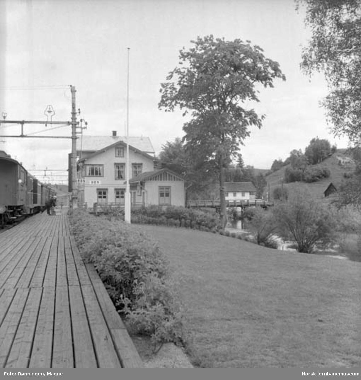 Hageanlegget på Bøn stasjon