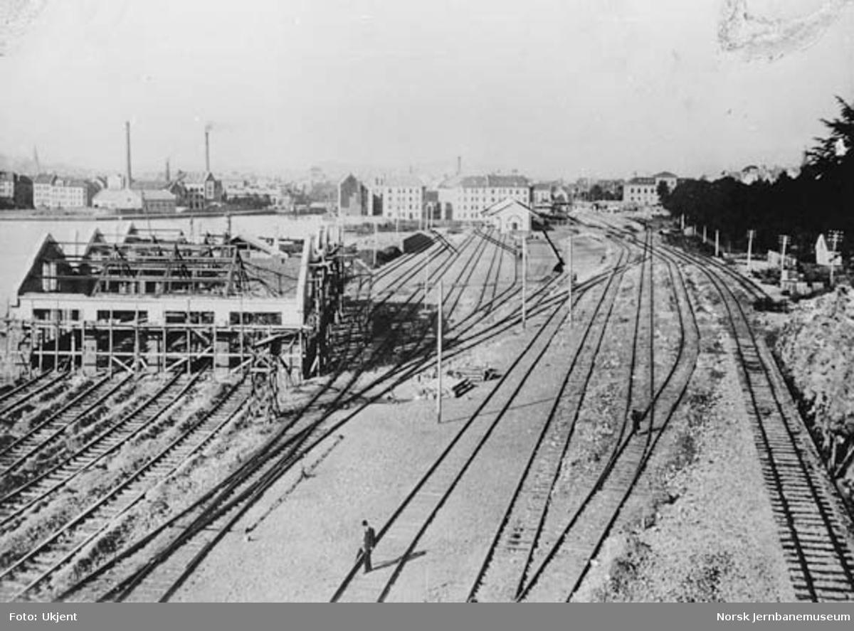 Bergen stasjon under bygging
