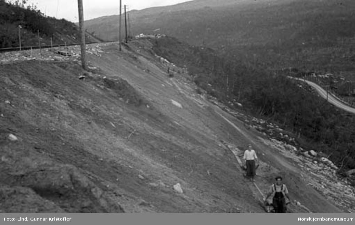 Nordlandsbaneanlegget : fylling ved Randalsvoll