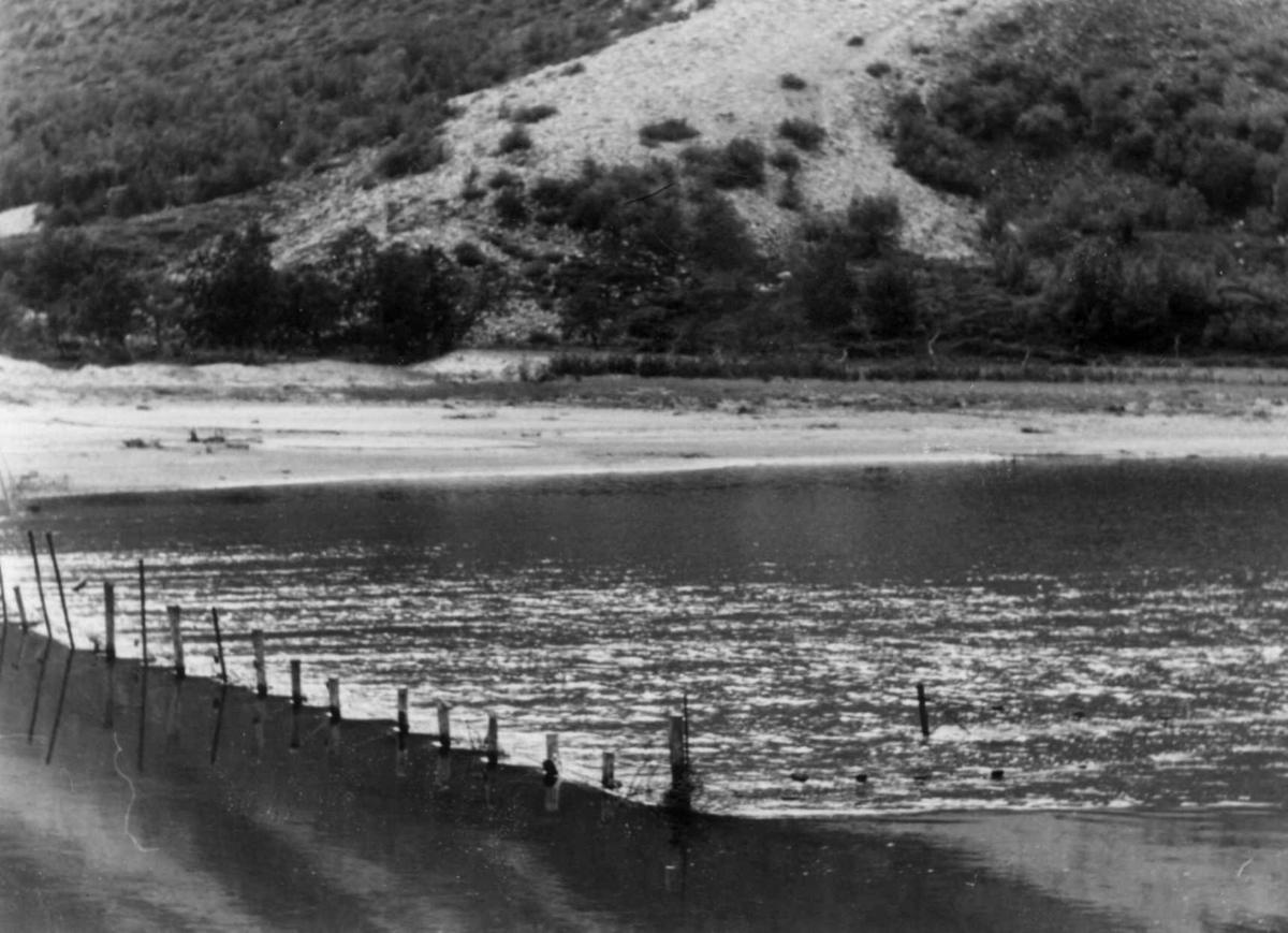 Laksestengsel, doares av netting. Lakselv 1948.
