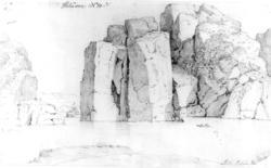 """Ny HellesundFra skissealbum av John W. Edy, """"Drawings Norwa"""