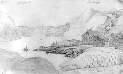 "SannidalFra skissealbum av John W. Edy, ""Drawings Norway 18"
