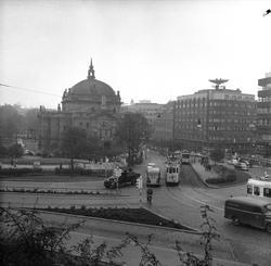 Stortingsgata, Oslo, 09.10.1957. Gatebilde.