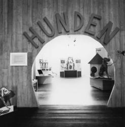 """Utställningen """"Hunden"""" på Nordiska museet 1989.Svartvit doku"""