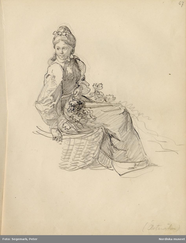 Ur skissbok av J. V. Wallander med inv. nr. 57.338.a. sid 67