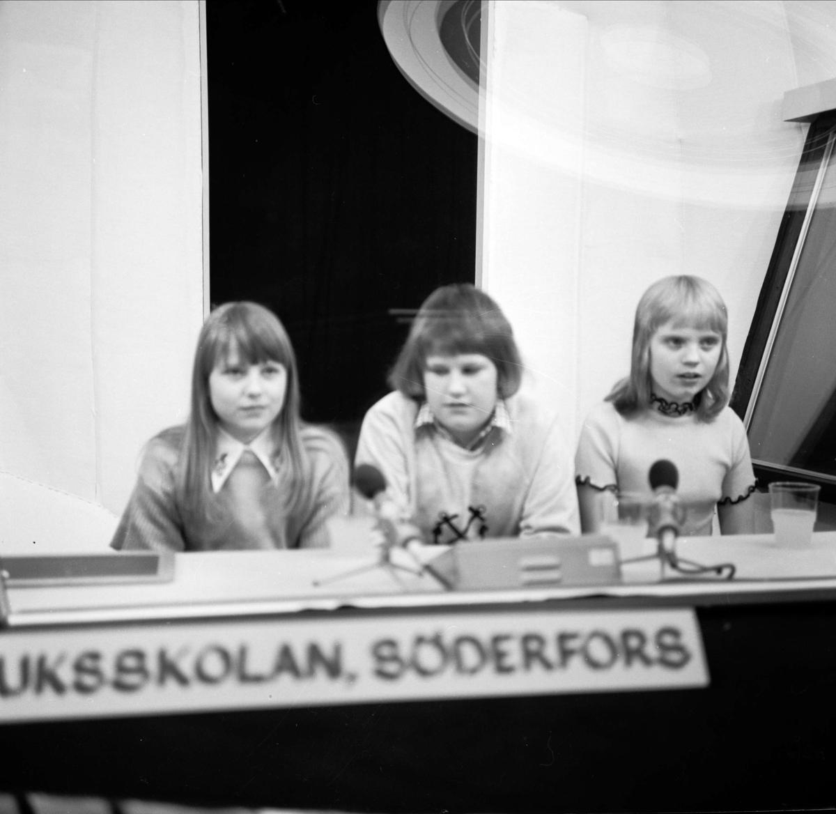 """Söderforselever med i Vi i femman i TV"", Stockholm mars 1973"