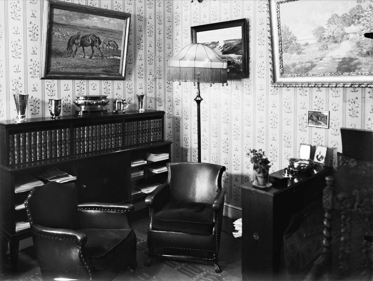 Bostadsinteriör, verkställande direktör Emil Fredriksson, Uppsala 1929