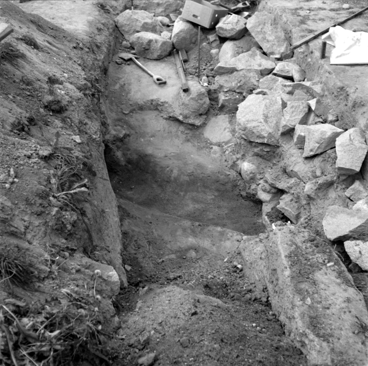 Prästgården, grav 2 - Arkeologi Gamla Uppsala 1973