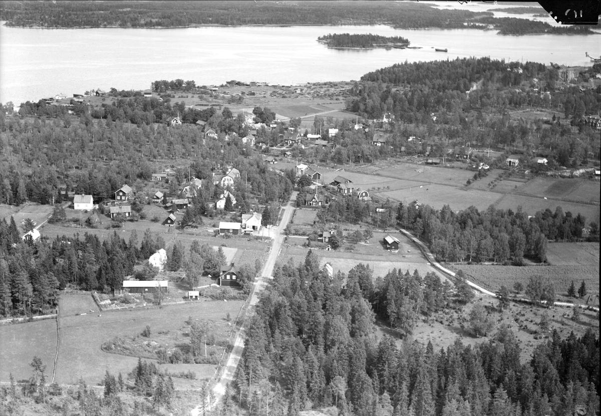 Flygfoto över Hargshamn, Hargs socken, Uppland 1936