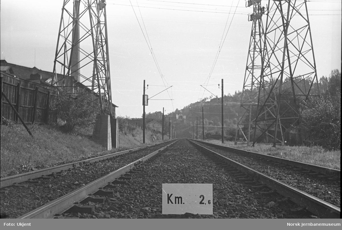 Hovedbanen : linjeføring km 2,6