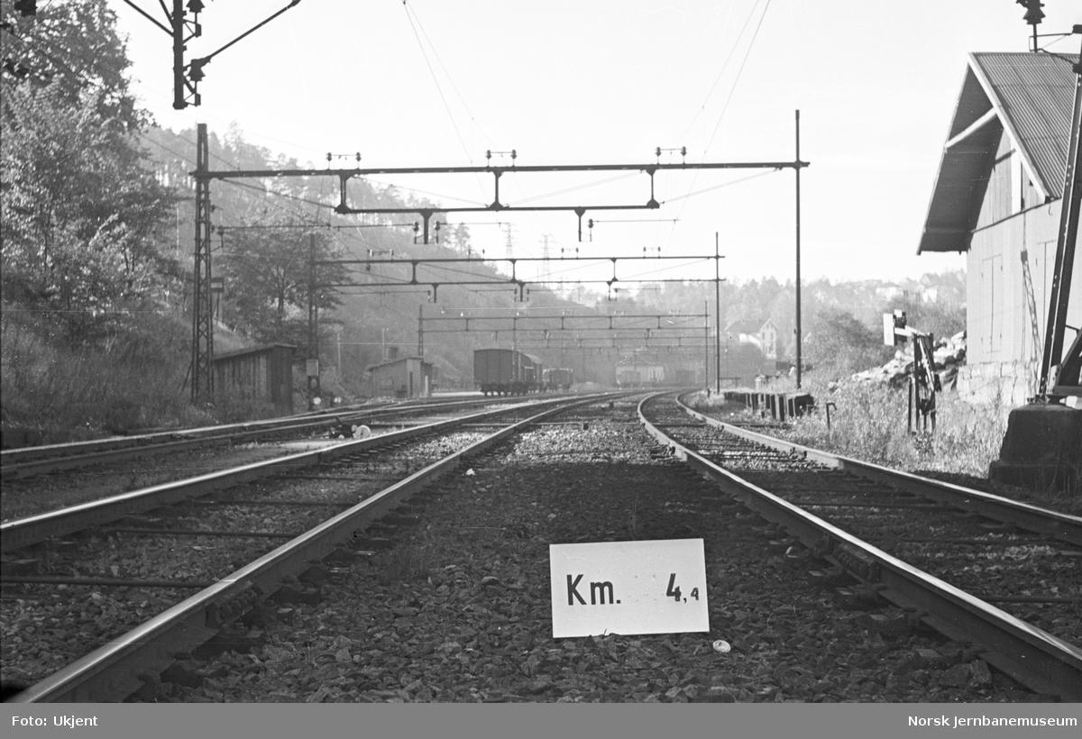 Hovedbanen : linjeføring km 4,4