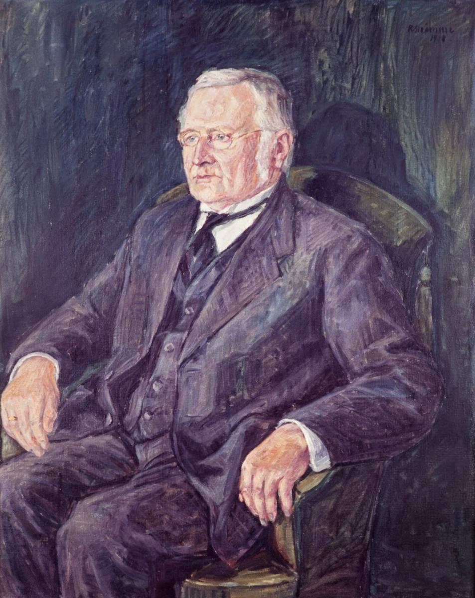 Jonas Øglænd - foto av portrettmaleri