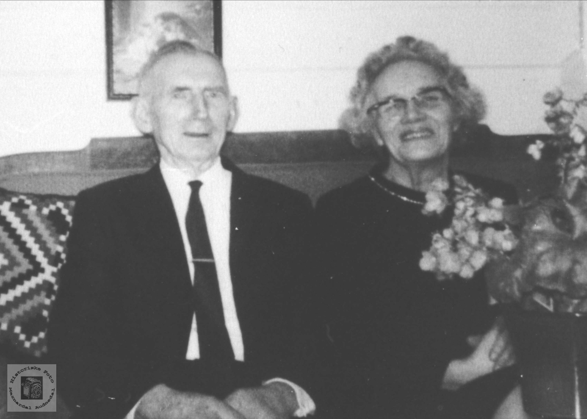 Portrett av ekteparet Tora og Johan Fidje, Laudal.