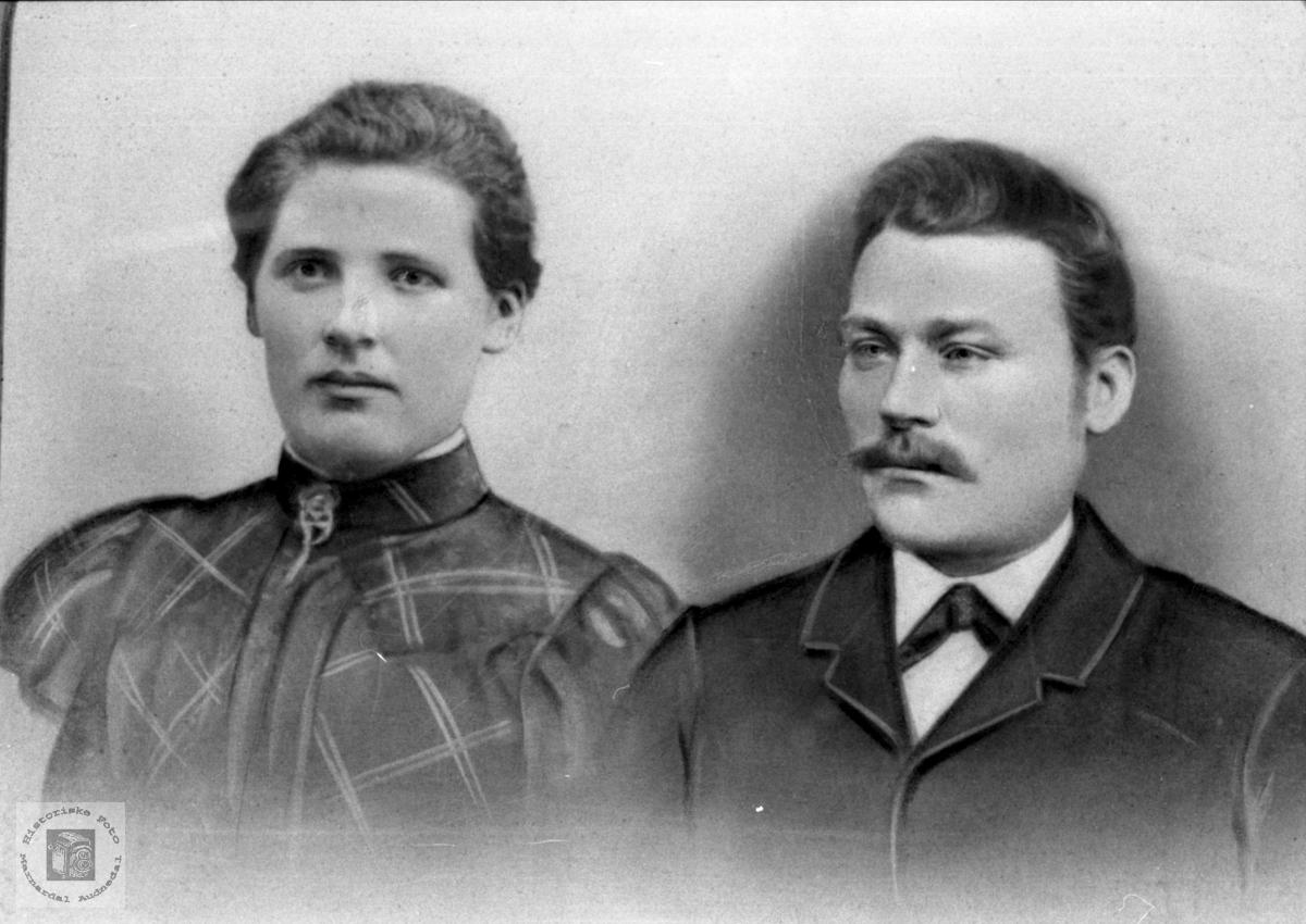Portrett av ekteparet Anna og Daniel Laudal.