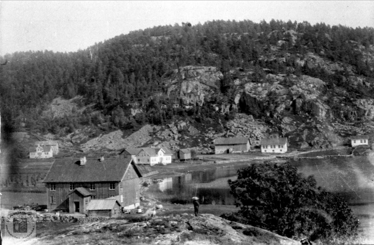 Høye i Øyslebø, vest mot øst.