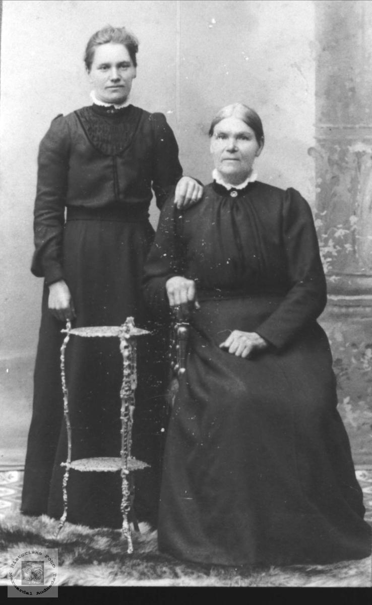 Portrett av mor og datter.