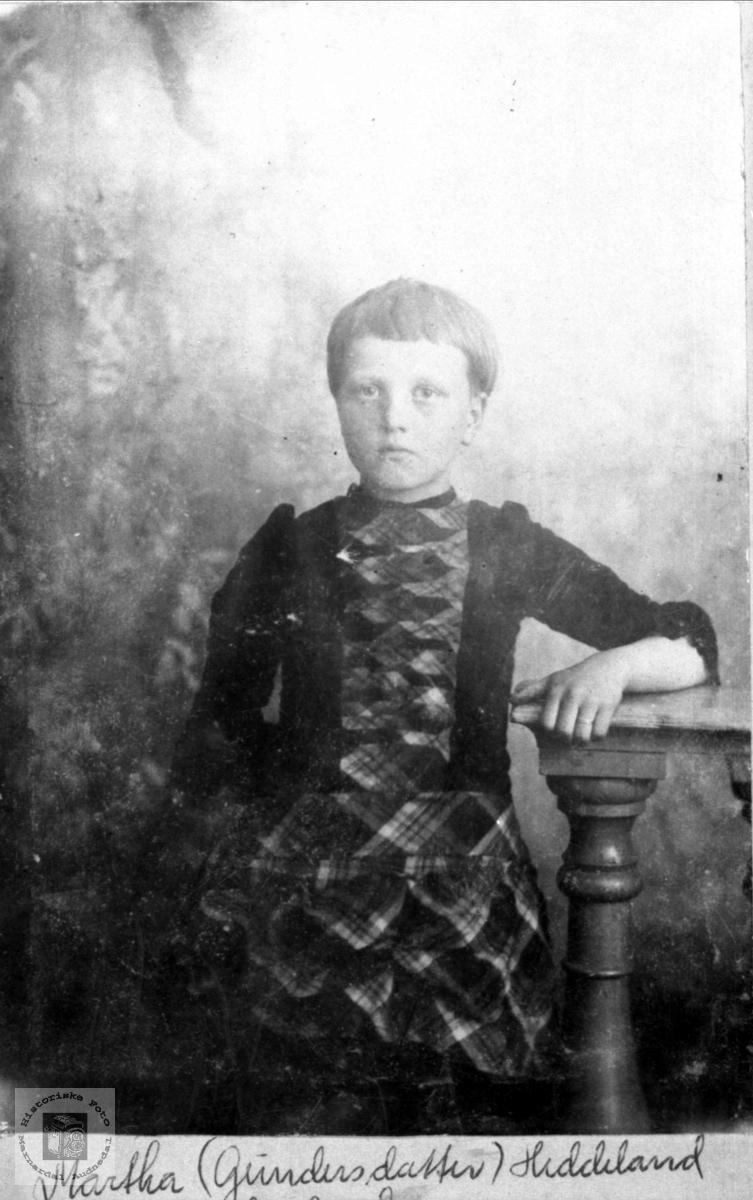 Portrett av Martha Egelandsaa.