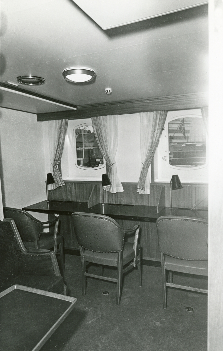 Lugar / skriverom, 1. klasse, M/S Lofoten