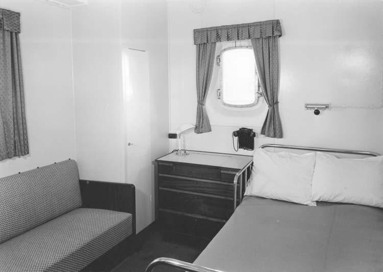 Interiör från fartyg 111 M/S Islas Malvinas, hytt.