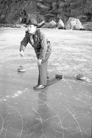 Curlingspel, Skeppsviken 1950.