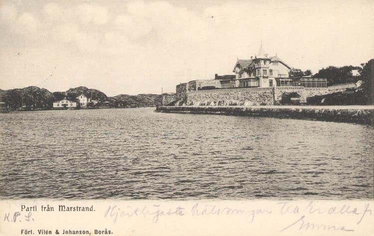 Parti från Marstrand vud sekeskiftet 1900.