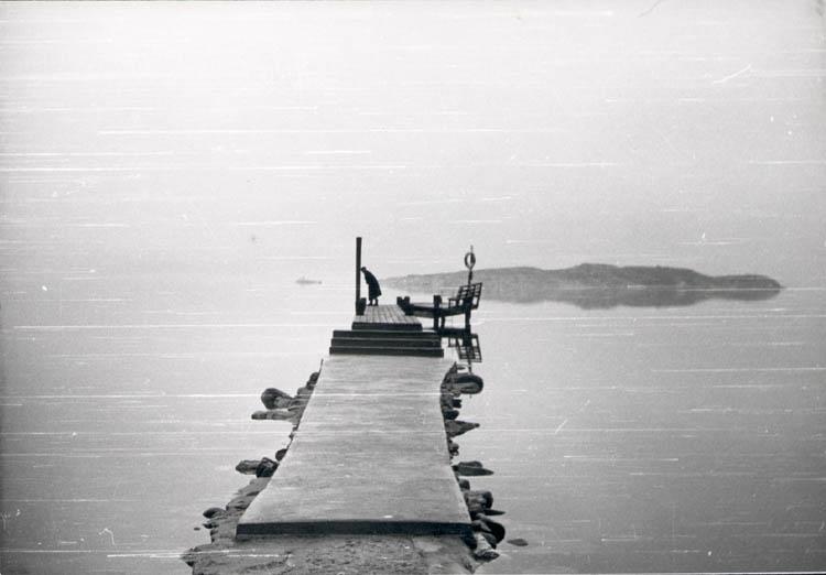 """Noterat på kortet: """"Getskär 27 Dec, 1959."""""""