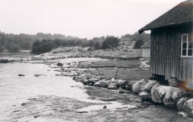 Berga strand på Hakenäset, Tjörn 1958