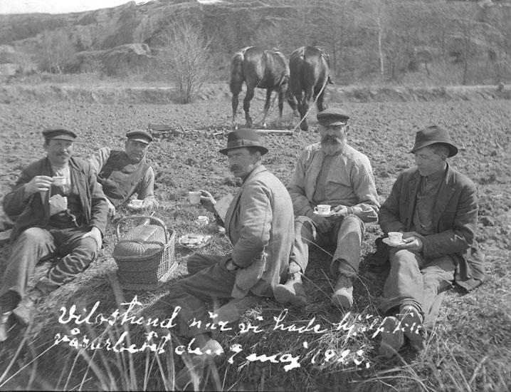 Vilostund under vårarbetet 7 maj 1923