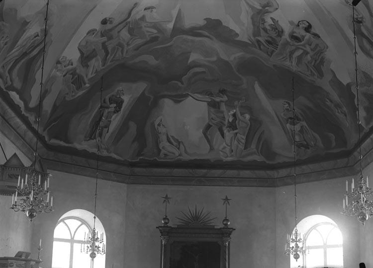 """Enligt fotografens noteringar: """"Detalj från taket i Foss kyrka."""""""