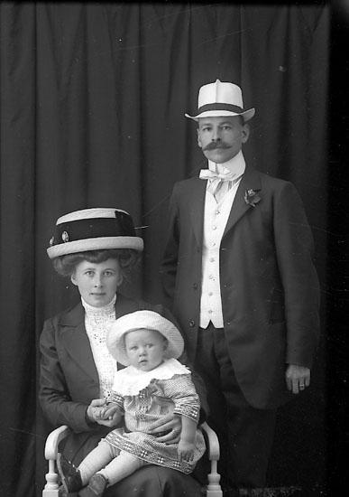 """Enligt fotografens journal Lyckorna 1909-1918: """"Nordström, Herr F. K. Hofva""""."""